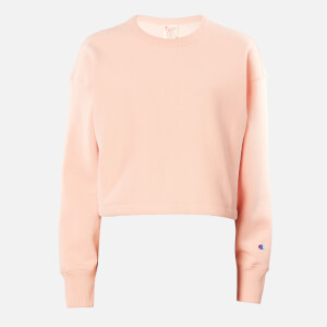 Champion Women's Cropped Crew Neck Sweatshirt - Pink