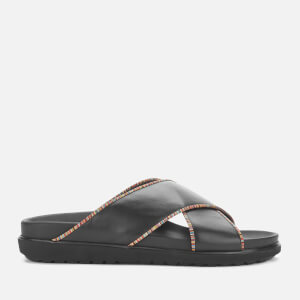 Paul Smith Men's Pax Leather Cross Front Sandals - Black