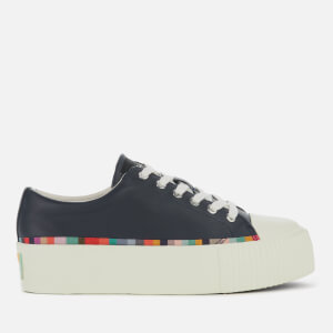 Paul Smith Women's Miho Leather Flatform Trainers - Dark Navy