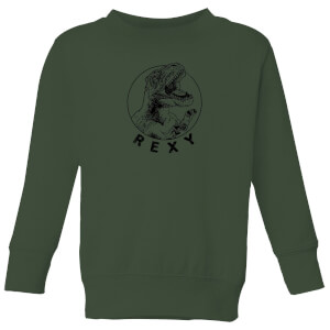 How Ridiculous Rexy Kids' Sweatshirt - Forest Green