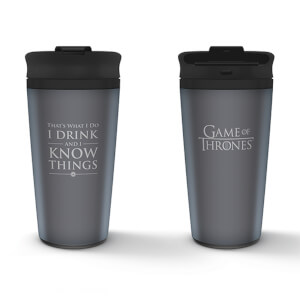 Game of Thrones (I Drink And I Know Things) Metal Travel Mug