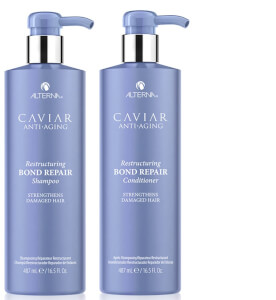 Alterna Caviar Anti-Aging Restructuring Bond Repair Shampoo and Conditioner 16.5 oz