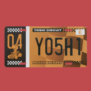 Mario Kart Yoshi Black Friday Special Metal Number Plate