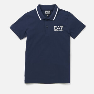 Emporio Armani EA7 Boys' Short Sleeve Small Logo Polo Shirt - Navy Blue