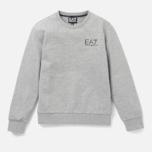 Emporio Armani EA7 Boys' Small Logo Sweatshirt - Medium Grey Melange