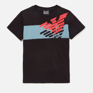 Emporio Armani EA7 Boys' Large Eagle Short Sleeve T-Shirt - Black