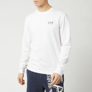 Emporio Armani EA7 Men's Small Logo Sweatshirt - White