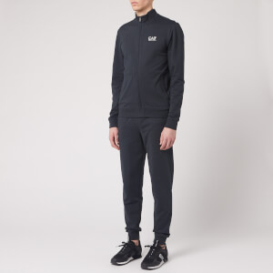 Emporio Armani EA7 Men's Full Zip Collared Tracksuit - Night Blue