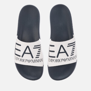 Emporio Armani EA7 Men's Logo Slide Sandals - Blue/White