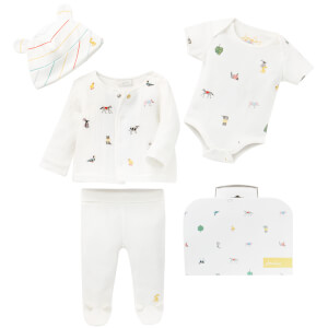Joules Baby My First Outfit Pack - White Farm Print (4 Piece Set)