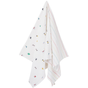 Joules Baby The Muslin Square - White Farm Print (2 Pack)