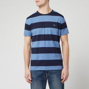 GANT Men's Barstripe Short Sleeve T-Shirt - Denim Blue Mel