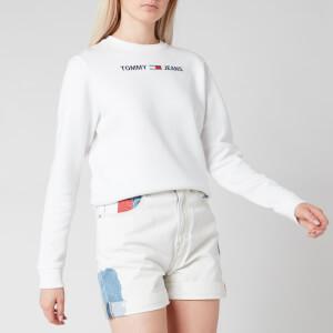 Tommy Jeans Women's TJW Essential Logo Sweatshirt - White