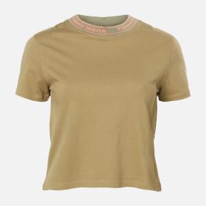 Tommy Jeans Women's TJW Branded Neck T-Shirt - Olive Tree