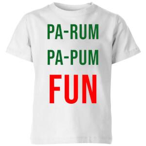 Pa-Rum Pa-Pum Fun Kids' T-Shirt - White