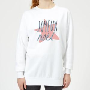 Joyeux Noel Women's Sweatshirt - White