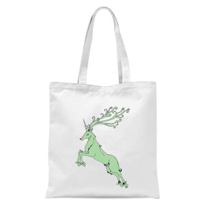 Green Rudolph Tote Bag - White