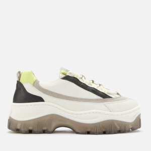 Bronx Women's Jaxstar Chunky Trainers - Off White/Light Grey/Lime