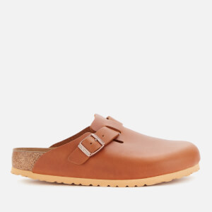 Birkenstock Men's Boston Smooth Leather Mules - Antique Pull Cognac