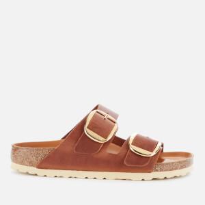 Birkenstock Women's Arizona Big Buckle Oiled Leather Double Strap Sandals - Cognac