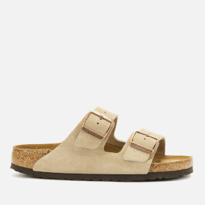 Birkenstock Women's Arizona Sfb Suede Double Strap Sandals - Taupe