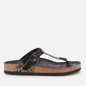 Birkenstock Women's Gizeh Toe-Post Sandals - Gator Gleam Black
