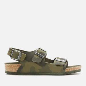 Birkenstock Kids' Milano Sandals - Desert Soil Camo Green