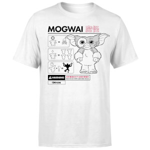 Gremlins Mogwai Instructional Men's T-Shirt - White