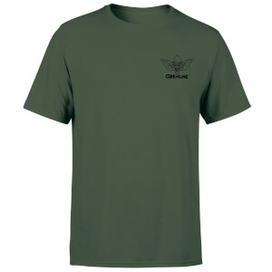 Gremlins Stripe Pocket Men's T-Shirt - Forest Green