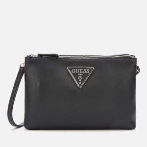 Guess Women's Michy Mini Double Zip Cross Body Bag - Black