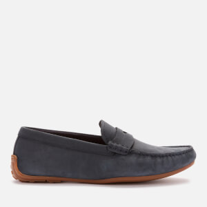Clarks Men's Reazor Penny Suede Driving Shoes - Navy