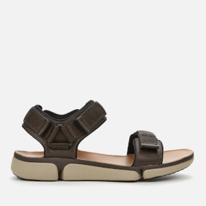 Clarks Men's Tri Cove Trail Outdoor Sandals - Dark Brown Combi