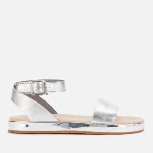 Clarks Women's Botanic Ivy Flat Sandals - Silver Comb