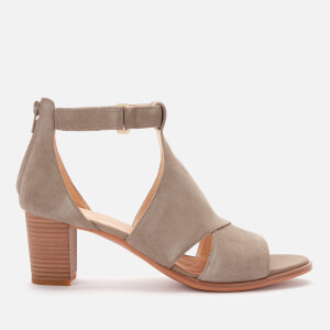 Clarks Women's Kaylin 60 Glad Suede Heeled Sandals - Sage