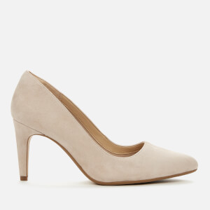 Clarks Women's Laina Rae Suede Court Shoes - Blush