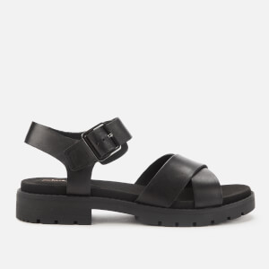 Clarks Women's Orinoco Strap Leather Sandals - Black