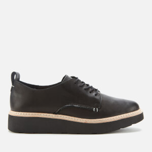 Clarks Women's Trace Walk Leather Shoes - Black