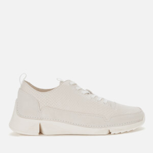Clarks Women's Tri Spark Trainers - White Snake