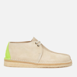 Clarks Originals Men's Desert Trek Suede Shoes - Off White