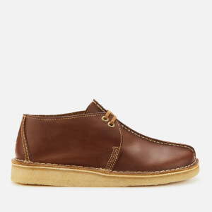 Clarks Originals Men's Desert Trek Leather Shoes - Tan