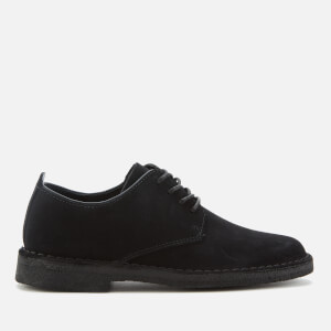 Clarks Originals Women's Desert London Suede Derby Shoes - Black