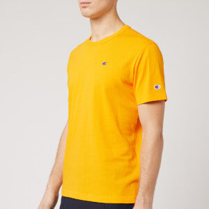 Champion Men's Logo Crew Neck T-Shirt - Yellow
