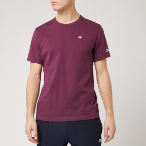 Champion Men's Logo Crew Neck T-Shirt - Burgundy