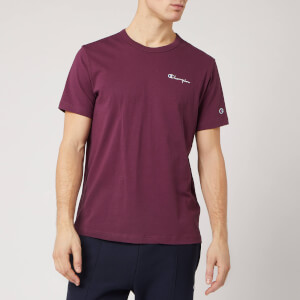 Champion Men's Back Script Crew Neck T-Shirt - Burgundy