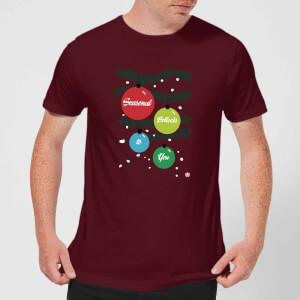 Modern Toss Season Bollocks To You Men's T-Shirt - Burgundy