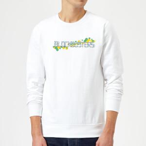 Blockbusters Pattern Logo Sweatshirt - White