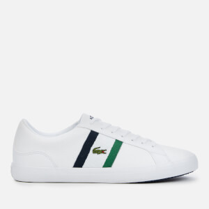 Lacoste Men's Lerond 119 3 Leather Low Top Trainers - White/Navy