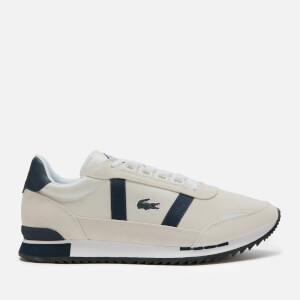 Lacoste Men's Partner Retro 120 Running Style Trainers - Off White/Navy