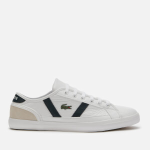Lacoste Women's Sideline 120 Leather Low Top Trainers - White/Off White