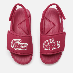 Lacoste Toddler's L.30 Strap 120 Slide Sandals - Dark Pink/White